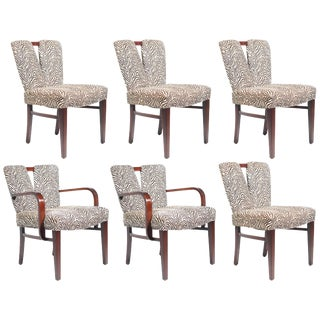"Set of Six Paul Frankl for Johnson ""Corset"" Dining Chairs For Sale"