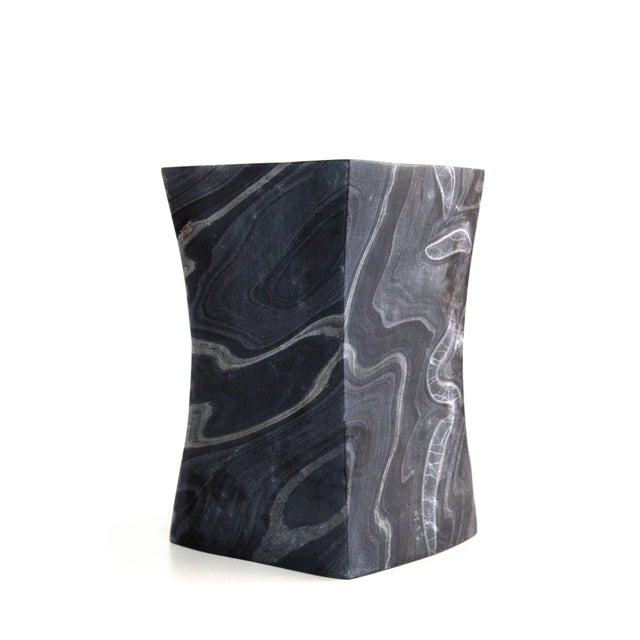 Stone Beslana Block Side Table - Black Marble For Sale - Image 7 of 9