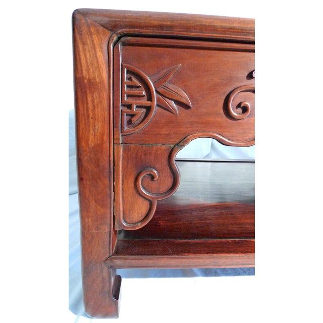 Early 20th Century Early 20th Century Chinese Carved Rosewood Long Low Opium Coffee Table For Sale - Image 5 of 13