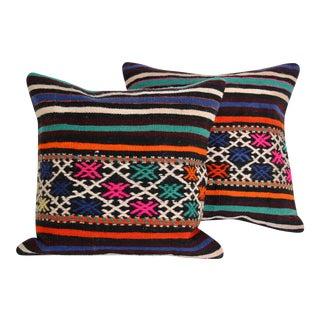 Turkish Kilim Pillows - A Pair For Sale