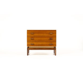 G-Plan Mid-Century Danish Modern Teak Three Drawer Upright Dresser with Sled Base Preview