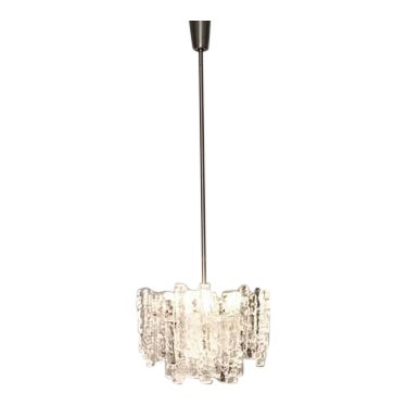 Kalmar Austria Icicle Ice Glass Viennese Chandelier from the 1960s For Sale