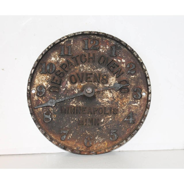 Rustic Despatch Oven Co., Minneapolis, Minnesota Advertising Clock Face For Sale - Image 3 of 6