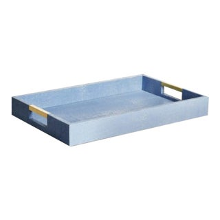 Aerin Shagreen Desk Tray For Sale