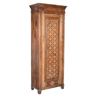 Old Teak Inlay Cabinet