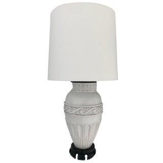 Big Vintage White Ceramic Lamp For Sale