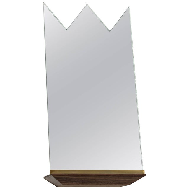 Modern Propped Daily Use Crown Mirror by Phaedo For Sale - Image 3 of 3