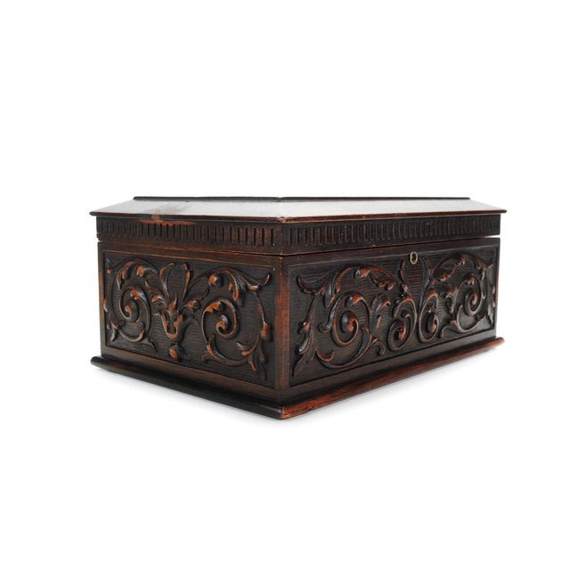 19th Century Carved Mahogany Humidor C.1880s - Image 3 of 9