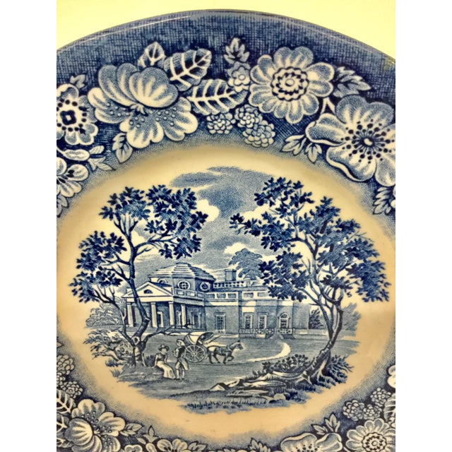 Staffordshire 1950s Boho Chic Stoneware England Butter or Pickle Plates - a Pair For Sale - Image 4 of 9