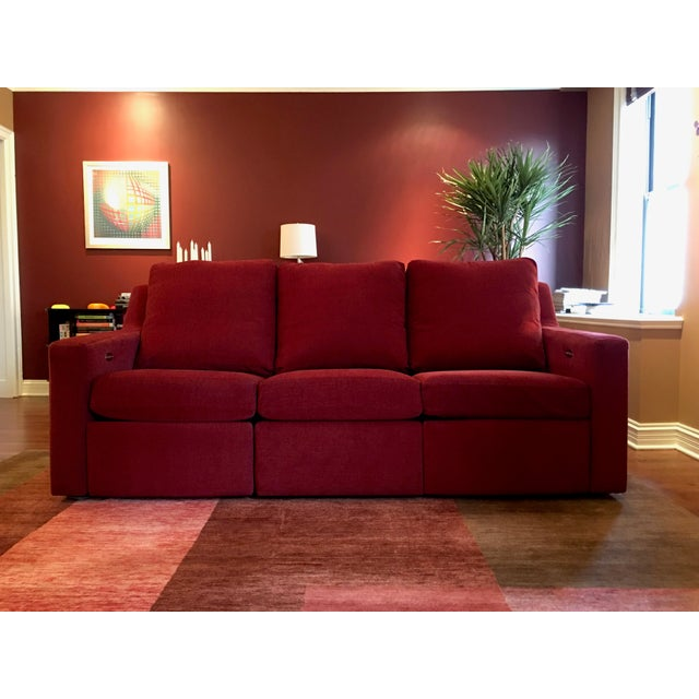 Dual Reclining Pindler Fabric Sofa - Image 2 of 7