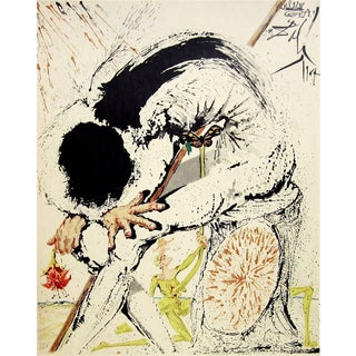 Salvador Dalí­ Don Quichotte Overwhelmed 1957 For Sale
