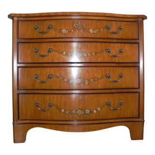 Regency Style Hand Painted Mahogany Chest of Drawers