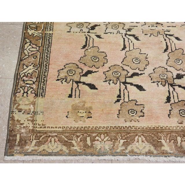 """Vintage Turkish Oushak Rug,4'1""""x8'4"""" - Image 5 of 6"""