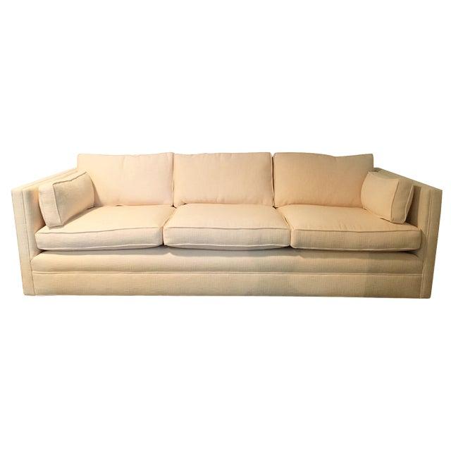 Knoll Tuxedo Linen Sofa - Image 1 of 10