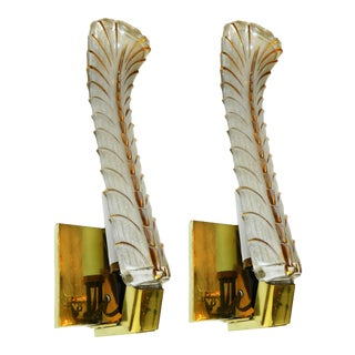 1950s Murano Sconces - a Pair For Sale