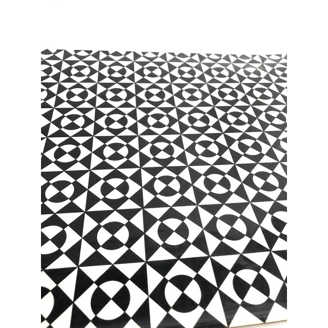 """Original """"perceptual design"""" work on board of abstract modern design made up of triangles and circles. Incredibly crisp..."""
