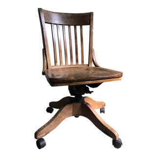 Original Marble & Shattuck Co. Oak Office Chair