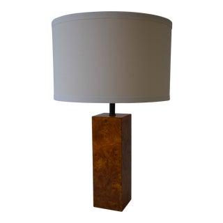 Modernist Burlwood Table Lamp