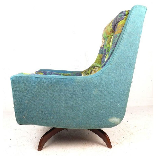 1970s Adrian Pearsall Style Mid-Century Swivel Lounge Chair For Sale - Image 5 of 9