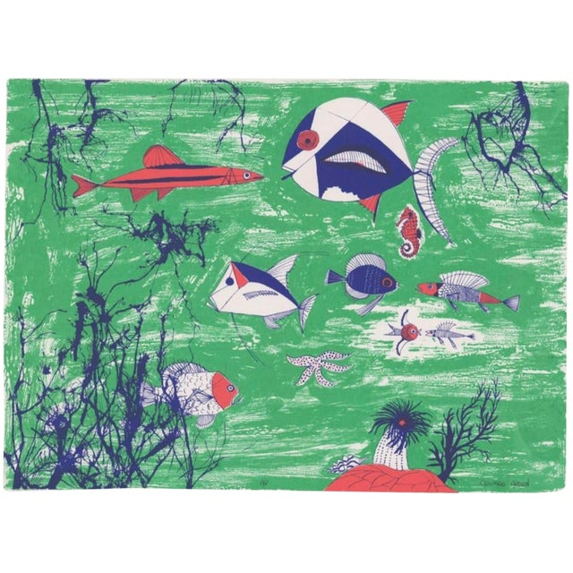 Lithograph 1990s Edward Arden Under the Sea Lithograph For Sale - Image 7 of 7