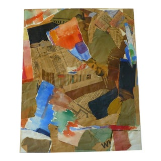 Signed Mid Century Collage by Jean Gunther For Sale