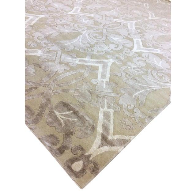 Pasargad Modern Silk & Wool Rug - 9′2″ × 11′10″ - Image 3 of 4