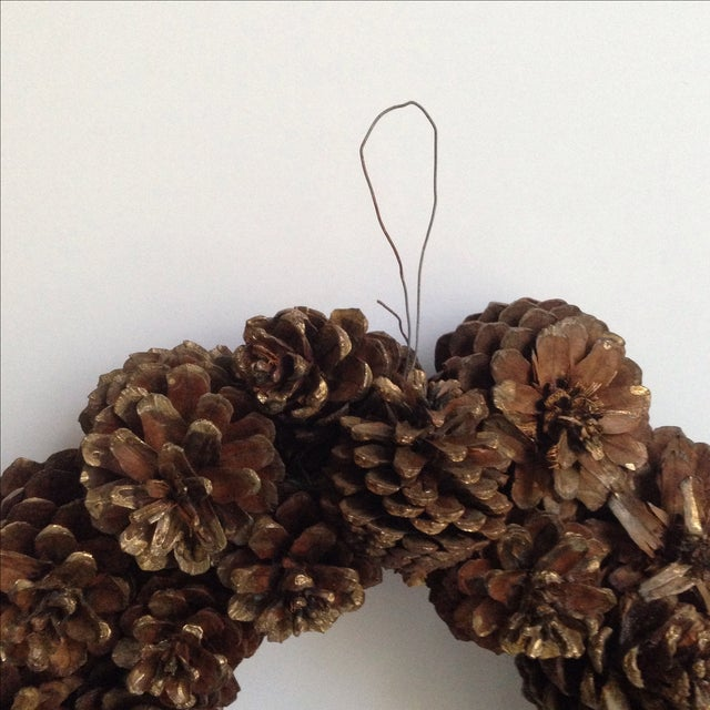 Vintage Natural Pinecone Wreath - Image 5 of 11