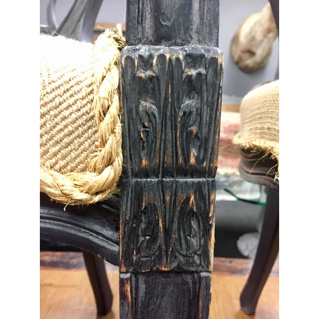 Ebonised Wheel Back Chairs - a Pair For Sale - Image 5 of 5