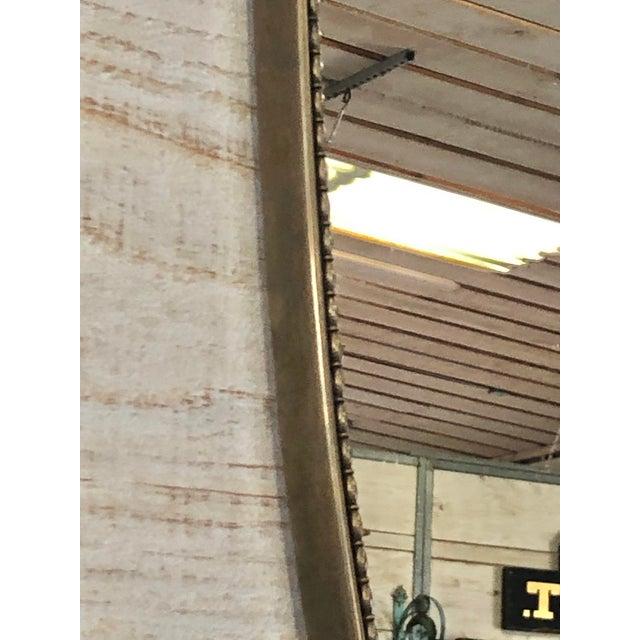 Gio Ponti Midcentury Italian Shield Brass Mirror For Sale - Image 4 of 5