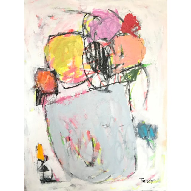 Scrappy Flowers No. 2 Contemporary Painting For Sale - Image 6 of 6