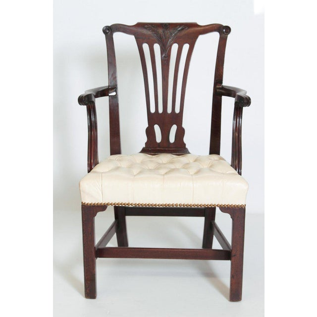 Late 18th Century Chippendale Mahogany Armchair For Sale - Image 4 of 13