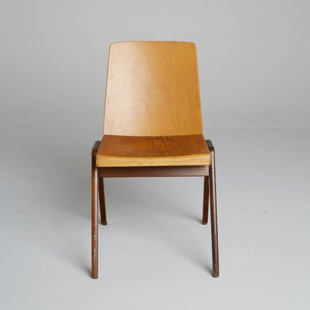 Thonet Thonet Wood Stacking Chairs - A Pair For Sale - Image 4 of 10