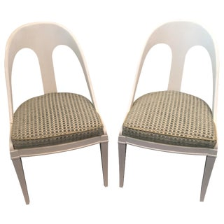 Spoon Back Dining Chairs - A Pair