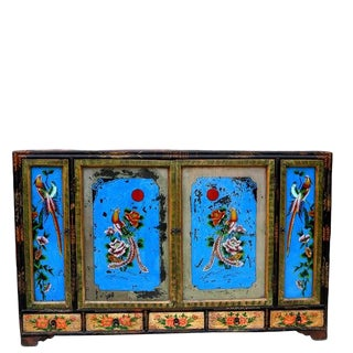 1940s Chinoiserie-Style Wooden Sideboard