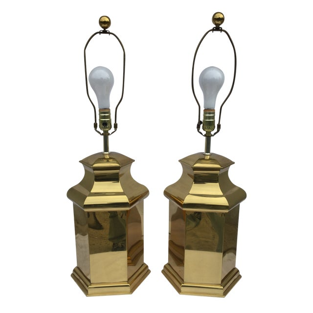 Vintage Modern Brass Table Lamps For Sale