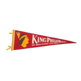 King Philip Beach Lake Pearl Felt Flag For Sale