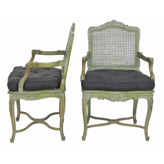 French Louis XVI Style Painted Armchairs - A Pair - Image 1 of 6