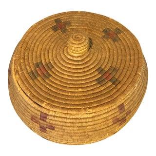 Vintage Native American Woven Basket From Alaska For Sale