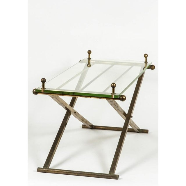 Brass & Glass Tray Coffee Table - Image 7 of 8