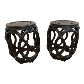 Early 20th Century Chinese Barrel Side Tables - A Pair