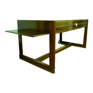 Art Deco Pure Rosewood Desk With Slide Leaves For Sale