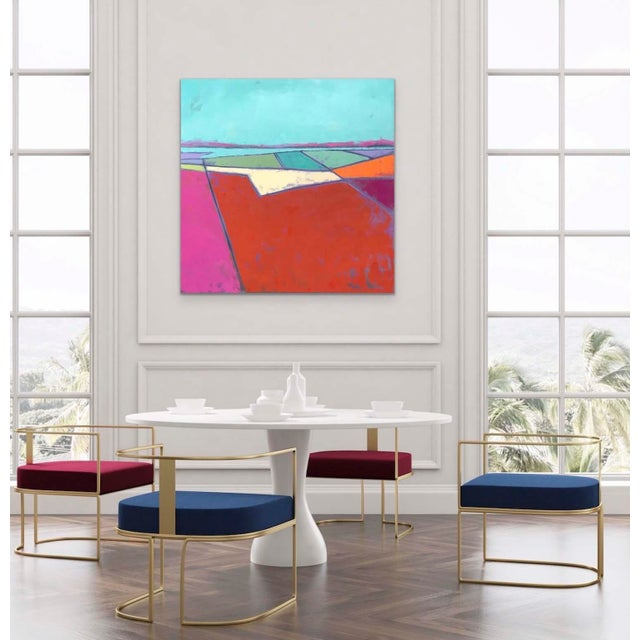 """Carrie Megan """"Looking Down #7"""" Contemporary Abstract Oil Painting For Sale In Boston - Image 6 of 6"""