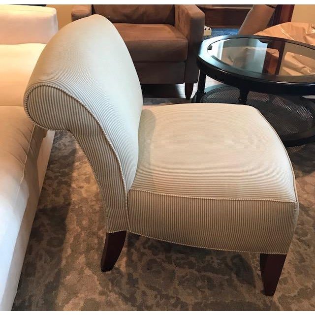 Hollywood Regency Ethan Allen Slipper Chair For Sale - Image 3 of 7