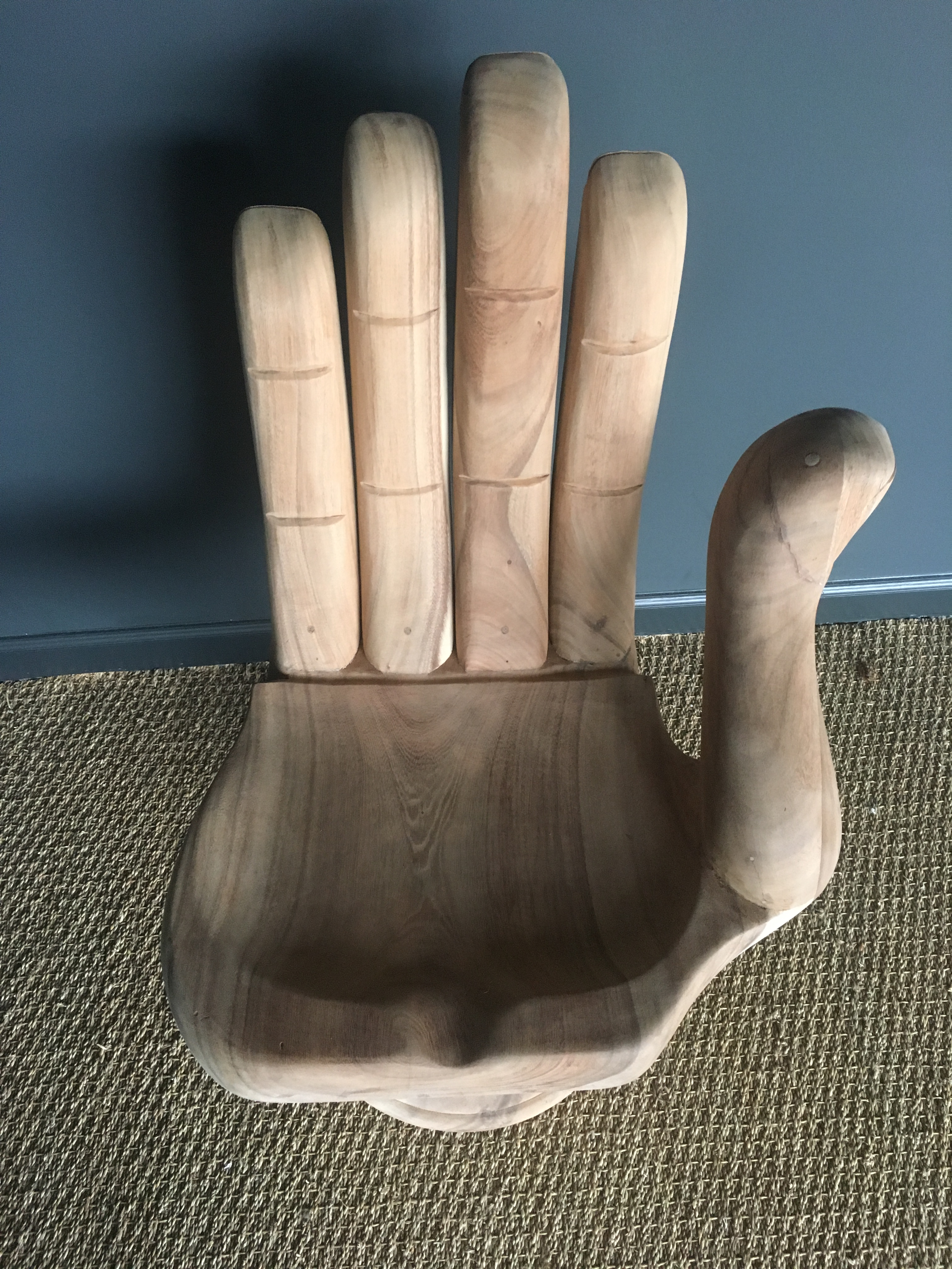 Teak Hand Shaped Chair   Image 3 Of 7