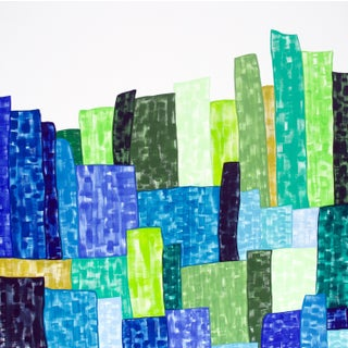 Groovy Turf Contemporary Abstract Painting For Sale