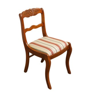 Tell City Duncan Phyfe Roseback Mahogany Dining Side Chair For Sale
