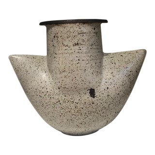 1988 French Cooper Ceramic Vase For Sale
