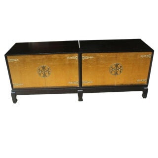 Renzo Rutili for Johnson Furniture Asian Motif Cabinet For Sale