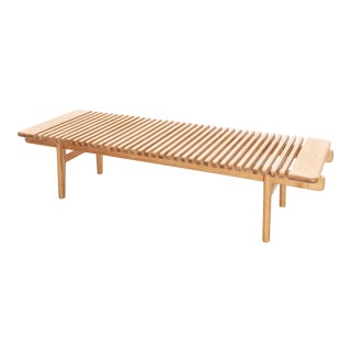 Rare Bench by Hans Wegner for Johannes Hansen in Ash, Denmark, 1950s For Sale