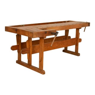 Antique Carpenter's Work Bench Console, Denmark For Sale